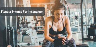 Fitness Names For Instagram